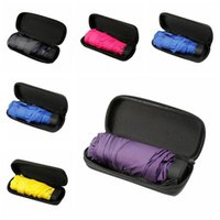 Umbrellas Small Fashion Folding Umbrella Rain Women Gift Men Mini Pocket Parasol Girls Anti-UV Waterproof Portable Travel