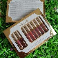 Stila 8pcs Stard-Stard-Stard huit Liquid Lisick Set Séjour toute la journée Lèvre Gloss Lipgloss Rouge A Levre Cosmetics Maquillage Kit de maquillage