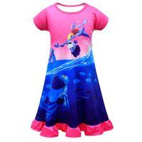 Девушки Nightdress Luca Детская пижама набор мода летняя игровая игра Фестиваль ночной рубашки друзей солнечный ребенок двухсектура дома носить вечер пижамы костюм детская одежда