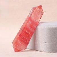 빨간색 브로케이드 빨간색 녹는 돌 육각 장식 이중 뾰족한 크리스탈 열
