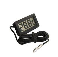 Mini Digital LCD Sonda do LCD Aquário Frigorífico Termômetro Termômetro Termógrafo Medidor de temperatura para geladeira -50 ~ 110 graus FY-10 SN2488