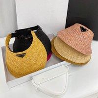 2021 Yaz Boş Hasır Şapka Güneş Şapkaları Plaj Tatil Kap Çim Örgü Kapaklar 6 Renk