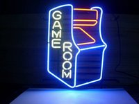 """17""""x14""""GAMEROOM RETRO Handcrafted Design Decorate Real Glass Tube Neon Light Sign Beer Bar Pub Party Visual Artwork Gift"""