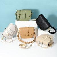 Womens Half Moon Saddle Clafskin Shoulder Bags Genuine Leather Luxurys Designers Cowhide Crossbody Wallet On Chain Multi Pochette Braid Top Handle Totes Handbags