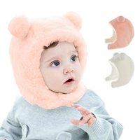 Winter Baby Warm Hats Thicken Windproof Ear Protection Hat Kids Girls Boys Little Bear ears Plush Cute Infant Cap