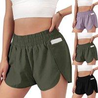 Running Shorts Jogger Plus Size Sport Women Summer Workout Sportswear Elastic Waist Casual Pocket Loose Solid Short Pants