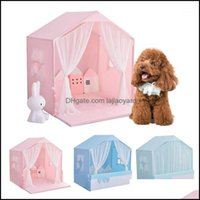Kennels Pens Supplies Home & Gardenpet Tent Nest Four Seasons Removable And Washable Kennel Teddy Small Dog Cat Pet Princess Beds Spring Sum