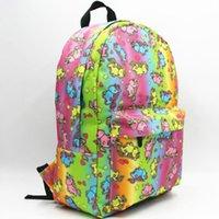 حزمة جودة حقيبة الظهر يومي النمط الدراجة النمط كيس Daypack عارضة مدرسية Unicorn Packsack فتاة Rucksack Sport Outdoor Lolita Neon CFJB LKVK