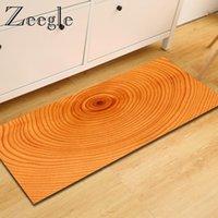 Carpets Zeegle Wood Pattern Mats For The Hallway Welcome Door Floor Rug Anti-slip Kicthen Area Bedroom Bedside Prayer Mat