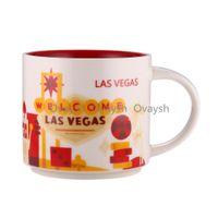14 oz Kapasite Seramik Starbucks Şehir Kupa Amerikan Şehirleri Kahve Kupalar Kupası Orijinal Kutusu ile Las Vegas