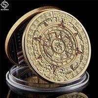 """Copia moneta Messico Mayan Aztec Calendario Art Profecy Cultura 1.57 """"* 0,12"""" Gold Souvenir Countemorative Coins Collectibles"""