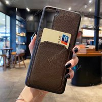 Верхняя мода Чехлы для телефона для iPhone 11 12 Pro Max 7 8 Plus XS XR XSMAX Высокое Качество Кожаный Держатель Карты Дизайнер Крышка для мобильного телефона С Samsung Note20 Note10 S21 S20 S10 S9
