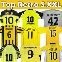 Borussia Dortmund Trikot Fußballs Retro Soccer Jerseys Vintage 2012 2013 Lewandowski Rosicky Bobic Koller 1994 95 96 97 1998 1999 MÖLLER 2000 01 2002 2003 REUS Football Jersey