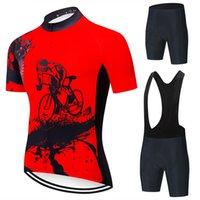 2021 Cycling Jersey Set Men MTB Cycling Abbigliamento Abbigliamento Abiti da ciclismo Quick Dry Bicycle Traspirante in bicicletta Sportswear Sportswear Manica corta Bike Uniform