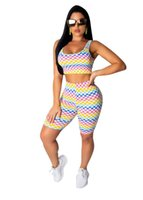 Women's Tracksuits Womens Two Piece Set Crop Top Shorts Summer Casual Shinny Pants For Women Leopard Printed Sexy