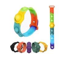 2021 Ultimo Partito Fidget Giocattoli Colore creativo Stress Sfort Reliet Wristband Stress Ansia Sollievo Bracciale in silicone morbido