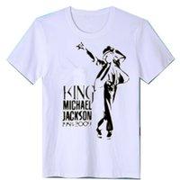 Мужские футболки мода Michael Jackson Print Повседневная Свободная футболка Streetwear Хип-хоп с коротким рукавом футболка мужская одежда