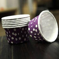 Cake Tools 100X Cupcake Wrapper Paper Case Baking Cups Liner Muffin Purple