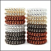 Rubber Bands Jewelry Jewelrymixed Solid Color Telephone Wire Cord Hair Tie Girls Women Elastic Hairband Ring Rope Bracelets Jewelr Drop Deli