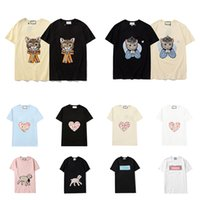 21SS T-shirts MENS T-shirts Lettres Mode Impression d'une manche courte Lady Tees Casual Vêtements Vêtements T-shirts Vêtements