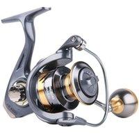 2021 металлическая катушка для катушки для рыболовства, спиннинг 12.95 кг Макс. Max Drag 5.2: 1 Высокоскоростная мерка для морской воды Сорлевые прядильные катушки рыболовные аксессуары