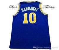 Billig benutzerdefinierte Tim Hardaway Retro Basketball-Trikot # 10 blau genäht Anpassen Jeder Name Nummer Männer Frauen Jugend Jersey XS-5XL