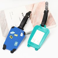 luggage tag plastic private label pvc for Travel Candy Color English Letter Luggage Label Strap Suitcase Name ID Address Tags BWD9113