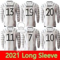 2021 2022 с длинным рукавом Вернер Киммич Футбол Футбол Германия Havertz Kroos Mailoots de Foot Volland Gnabry Goretzka Sané Gündogan Müller Футбольная рубашка