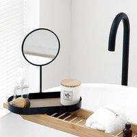 Andere woningdecorentafel opbergvakken met ijdelheidspiegel zwart / wit voor make-up aanpassen Verwijderbare multifunctionele 30cm decortion ring pallet