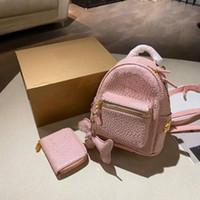 Lüks Tasarımcılar Sırt Çantaları Stil Cüzdan Moda Kadın Mektup Bayan Kompozit Çanta Schoolbag Unisex Mini Satchels Çanta Kutusu Ile