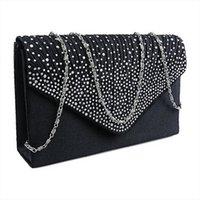 Lq0t Clutch Bag Diamante Envelope Evening Satin Mochilas Large Ladies Shoulder Crossbody Party Canta Xpmuf