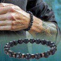 Charm Bracelets Stone Bracelet men for Women natural lava yoga bracelet Homme Luxury Crown Beads Femme Mens Jewelry Pulseras Hombre