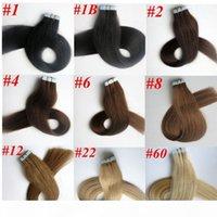 50g 20 pcs 1set Colle Skin Tape de trame dans des extensions de cheveux 18 20 22 24inch brésilien droit indien hétéropensions de cheveux humains