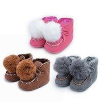 أول مشوا jocestyle الطفل قبل الميلاد أحذية الشتاء الرضع الكرتون بومبون الأحذية الدافئة قطرة