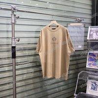21ss Men Parted T Рубашки Polos дизайнер ушной пшеничной короны Письмо печати Парижская одежда с короткими рукавами мужская рубашка тег белый черный хаки
