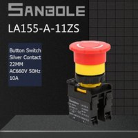 Smart Home Control 22mm Push Button Switch LA155-A-11ZS Waterproof Self-Lock Latching Explosion-proof Power Supply Emergency Stop Electric