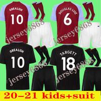 Aston Villa Soccer Jersey 20 21 Watkins M. Trezeguet Grealish Jerseys 2021 Wesley Davis Camisa de futebol Men + kit kit uniformes