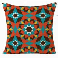 Home Textiles Moroccan pillow case mosaic Arab cushion cover single-sided linen four seasons universal Bedding Supplies OWD10375