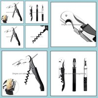 Openers Kitchen Tools Kitchen, Dining Bar Home & Gardenwaiter Wine Tool Bottle Opener Horse Knife Pltap Double Hinged Corkscrew Fast Sea Dwc