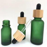 Бутылки для хранения JARS 1x5ML 10 мл 15 мл 30 мл 50 мл 100 мл матовый капельница Бутылка с бамбуковой крышкой Пипетка Repillable высококачественный толстый матовый GL