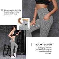 Lu Yoga Outfits Großhandel Übung Fitnessabnutzung Tiktok Damen Strumpfhosen Aufzug Hüften Hohe Taille Hosen Tasche grau Farbe Athletische Kleidung Dame Skinny Insgesamt Größe S-XXXL