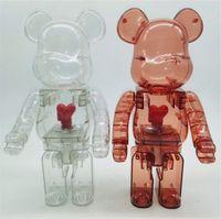 Nouveau 400% 28cm Barbrick The ABS Conception de cœurs Mode Ours Figurines Toy pour Collectionneurs Be @ RBrick Art Modèle de travail Decoration Jouets