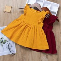 Ins Baby Mädchen Kleid Kinderkleidung 2021 Sommerschaum Rüschenhülse Prinzessin Kleid Rock Fly Sleeves Tutu Party Geburtstagskleider H237SDG