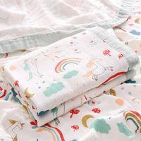 Asciugamano fibra di bambù infantile bambini morbidi bagno doccia accappatoio nato garza swaddle che riceve coperte da bambino coperta involucro