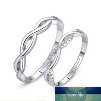 925 Sterling Silver Infinity Love Promesse Zircon Réglable Couples Rings Classic Engagement Anneaux de mariage S-R164