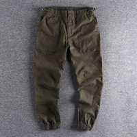 Men's Pants Military Style Three-dimensional Large Pocket Clothes Casual Cotton Elastic Loose Leggings Youth Trend Trouser 477