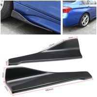 2pcs 3D Carbon Fibre de voiture arrière-pare-chocs à gauche / côté droit Diffuseur Diffuseur Spoiler Lip
