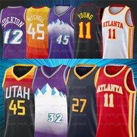 2021 novos jovens 11 TRAE NCAA Donovan 45 Mitchell Gobert 27 Rudy 12 John Malone Stockton 32 Karl Basketball Jerseys