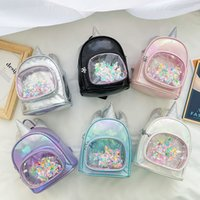 Дети мультяшный рюкзак 2021 новый милый детский блесток unicorn мини-рюкзак детский сад школьная сумка девочки повседневные сумки C6964