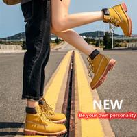 Best Quality Uomo Donna Classic Yellow Boots Stivaletti a caviglia Casual Impermeabile Stivali da neve ad alto taglio Stivali da escursionismo Sport Scarpe da ginnastica Sneakers con scatola